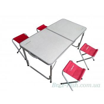 Раскладной стол + 4 стула для пикника